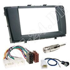 Toyota Avensis t27 kit de integracion doble DIN radio diafragma ISO adaptador + cable antena