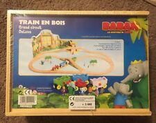 Jeujura Wooden Luxury Babar Train Set! New! Thomas, Brio! Extremely Rare! France