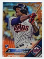 2016 Topps Chrome MIGUEL SANO Rookie Card RC ORANGE REFRACTOR #/25 Twins #104 SP
