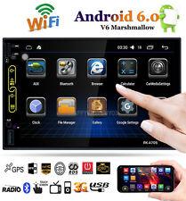 "7"" HD Android 6.0 WIFI GPS Nav 2DIN Bluetooth FM/AM Car Radio Stereo MP5 Player"