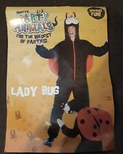 Ladybird Adult Fancy Dress Costume with Hood. Smiffys. One Piece Animal Party**