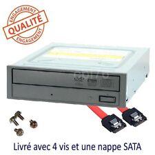 "Lector/grabadora de DVD y CD interna 5,25"" SATA para PC oficina+plano tornillos"