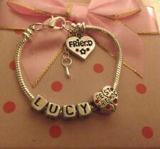 Personalised Girls friendship best friends bangle bracelet gift box Fast Deliv
