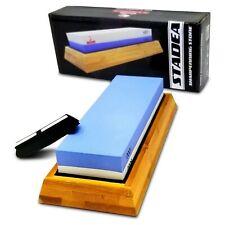 Stadea  Kitchen Knife Whetstone Sharpening Stone Wet Sharpener Honing Kit-2 Grit