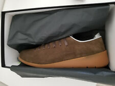 Hand Made UK10- EU44.5 BROWN LEATHER SUEDE TRAINER SHOE JUSTIN DEAKIN  NIB £250