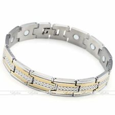 """Punk Mens Stainless Steel Power Magnetic Magnet Therapy Bracelet Link Chain 8.5"""""""