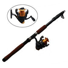 Spinning Combo 2.4m Fishing Rod and Reel Full Set Telescope Adjustable Rod Reel
