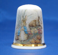 China Thimble -- Beatrix Potter - Peter in the Onion Patch  -  Free  Gift Box