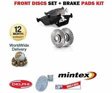 FOR NISSAN ELGRAND  3.2DT 3.3i 1997-1999 FRONT DISCS + FRONT PADS SET OE QUALITY