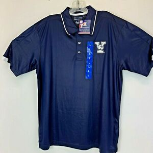 Yale University Bulldogs Mens Large Navy Blue Embroidered Polo Shirt NWTs (P14)
