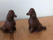 Stunning 2 X Vintage Poodle Dog Figurine by Priory Castings England