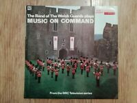 THE BAND OF THE WELSH GUARDS * MUSIC ON COMMAND * VINYL LP EX/EX 1971