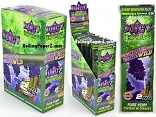 FULL BOX of 25 Packs(2 per pack) JUICY HEMP WRAPS - GRAPES GONE WILD Flavored