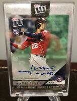 Juan Soto 2018 Topps Now Baseball #717 GREEN on-card Autograph Auto RC 150/199