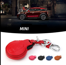 PU Leather Key Case Chain Holder Cover Mini Cooper ONE/S CLUBMAN F55 F60 3st Gen