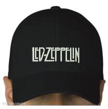 Led Zeppelin black cap hook and loop closure blues hard rock heavy metal hat