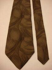 BASICS By Croft&Barrow Men's Silk Neck Tie - Browns waves geometric print