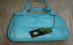 New* Alpha Women's Torquois Real Leather handbag ☆ 100%Genuine