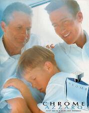 Publicité Advertising 1997  Parfum  CHROME  AZZARO  pour homme