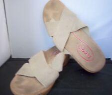 "KLOGS - Women's Beige Slides w/2"" clog heel - SIZE 9M"
