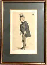 Vintage Framed Vanity Fair Print The Duke of Sport Caricature 1876 Signed By Spy