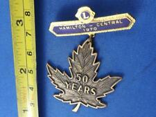 LIONS CLUB INTERNATIONAL DANGLE HAMILTON CENTRAL 1970 PIN VINTAGE COLLECTOR