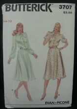 Butterick Sewing Pattern Dress Evan Picone Vintage 3707 Size 10 Uncut