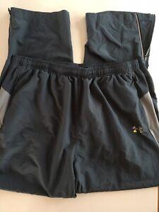 🧨 Under Armour Heat Gear Gray Mens Size XXL Zippered Pockets Sweat Pants 31 L