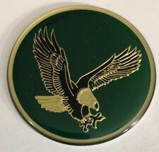 "4 Green 49mm Center Cap Wheel Rim Emblems Logo Decals 1 15/16"" Eagle Bird"
