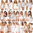 New Women Sexy Lingerie Nightwear Underwear Sleepwear White Wedding Lace Dress