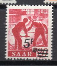 SAAR; (Saargebiet) 1947 Nov French Occ. surcharge issue Mint hinged 5Fr