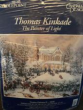 Vtg Thomas Kinkade Victorian Christmas Ii Needlepoint Kit 30858 Candamar Designs