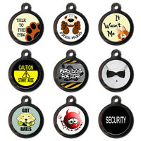 PET ID TAGS-Pet Dog Cat Name Tag-Talk To Paw-Free Hugs -Wasn't Me -Engraved FREE