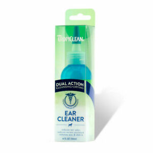 TropiClean Ear Cleaner Dual Action Cleansing & Drying for Dogs & Cats 118ml
