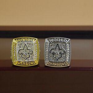 2pcs 2009 2009 New Orleans Saints World Championship Ring //