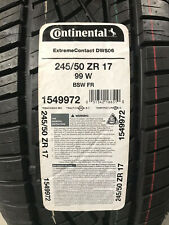 1 New 245 50 17 Continental Extreme Contact DWS06 Tire
