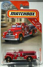 2019 Matchbox Die Cast Seagrave Fire Engine in Fire Department Red 55/100