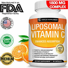 Liposomal Vitamin C 1800 MG Capsules High Absorption Vitamin C Pills Supplements