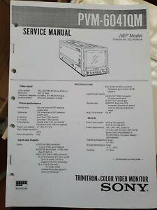 Sony Service Manual PVM-6041QM