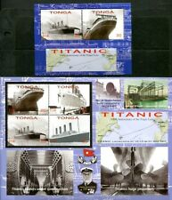 TONGA 2012 SINKING OF THE TITANIC CENTENARY - SHIP MINT SET & SS - $20.50 VALUE!