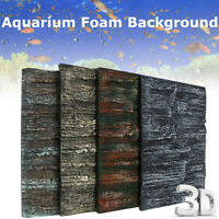 2x 3D Aquarium Foam Rock Background Backdrop Fishes Tank Reptile Reptile
