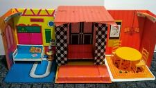 Vintage Barbie Doll Family House And Furniture Mod @1968 Mattel