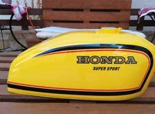 HONDA CB400F PARAKEET YELLOW TANK STRIPES