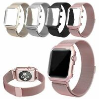 Milanese Stainless Steel iWatch Band Strap+Cover Case Apple Watch Series 3/2/1