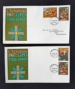 TWO 1967 CHRISTMAS ISSUE FIRST DAY COVERS
