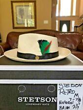 "STETSON ""RETRO"" NATURAL M 7 - 7 1/8 PANAMA STRAW!"