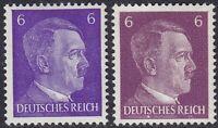 Stamp Germany Mi 785a 785b Sc 510 1941 WW2 3rd Reich War Hitler BOTH TYPES MNH
