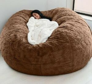 Microsuede 7ft Foam soft Giant  fur bean bag Living Room Memory Chair Lazy cover