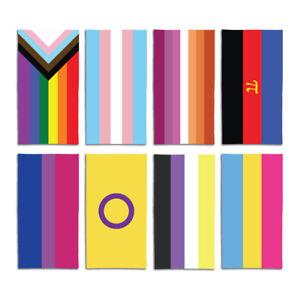 Rainbow Beach Towels Large LGBTQ+ Flags Adult Microfibre Swimming Towel 140x70cm