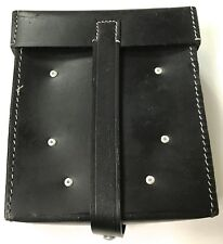 WWII GERMAN MG GUNNER TOOL POUCH- BLACK LEATHER